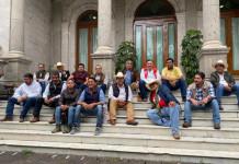 Francisco Chew, Federico Ovalle, Álvaro López Ríos y Marco Antonio Ortiz Salas, optaron por iniciar una huelga de hambre en el interior de la Secretaría de Gobernación