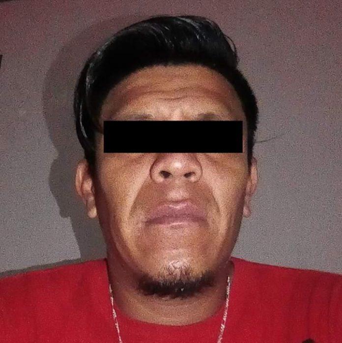 """Arturo """"N"""", de 36 años, por el delito de feminicidio en agravio de María Antonia """"N"""", de 27 años, en el municipio de Ocozocoautla."""